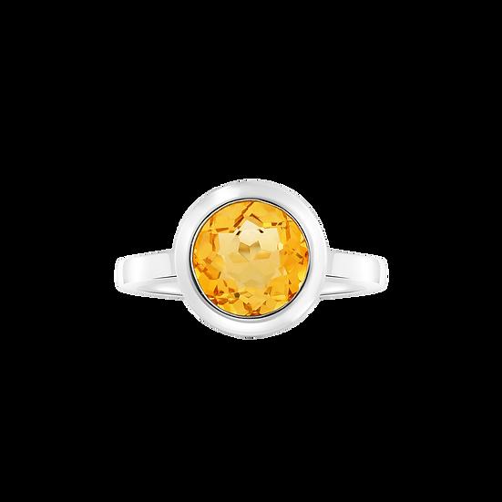 SUMMER ISLAND CITRINE RING IN WHITE GOLD