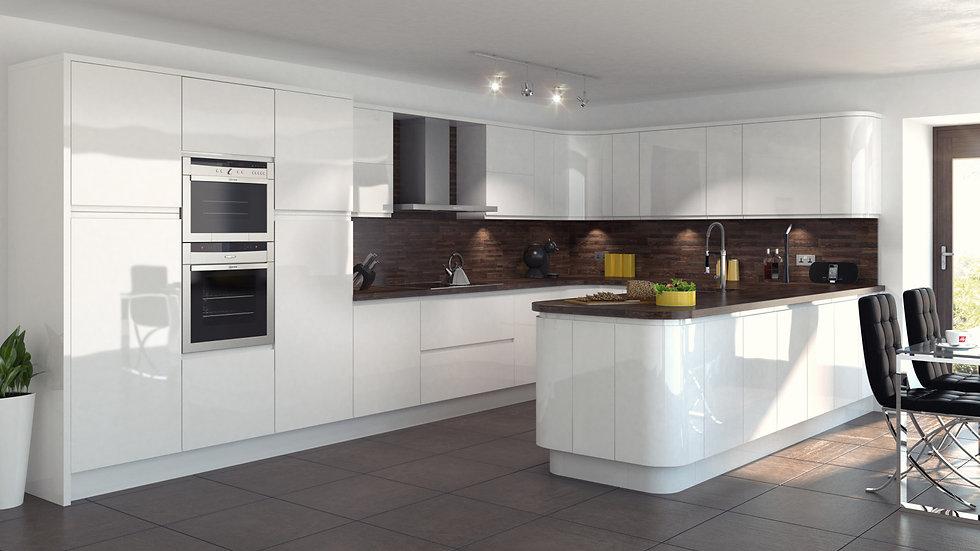 Mackintosh Integral Gloss White Kitchen By Kuche & Bagno