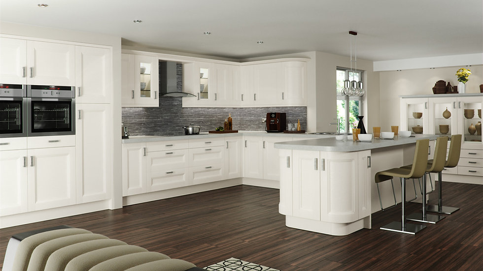 Mackintosh Chamfered Painted Kitchen by Kuche & Bagno