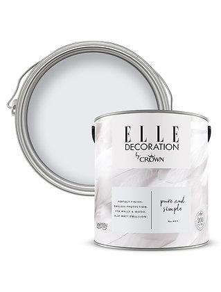 Elle By Crown Flat Matt Paint 'Pure & Simple' Sample Pot 125ml