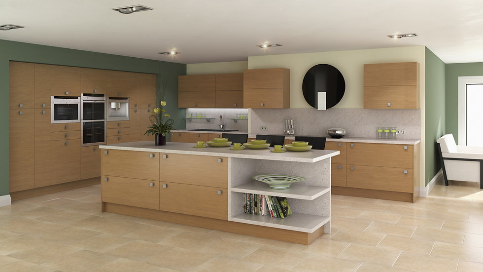 Chippendale Vogue Lissa Oak Kitchen By Kuche & Bagno