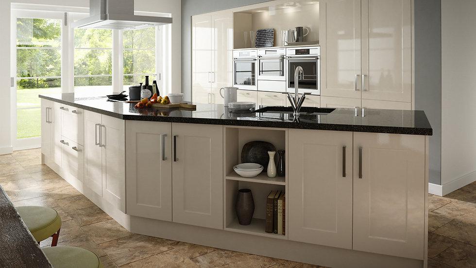 Mackintosh Gloss Stone Shaker Kitchen By Kuche & Bagno