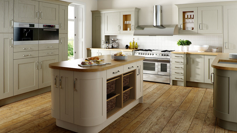 Chippendale Wood Shaker Painted Kitchen By Kuche & Bagno