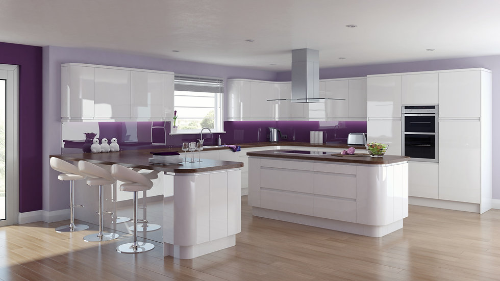 Chippendale Solo Gloss White Kitchen