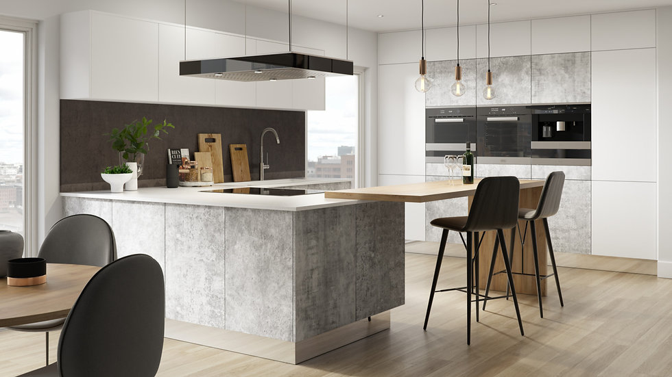 Mackintosh Linear Bellato Grey Kitchen By Kuche & Bagno