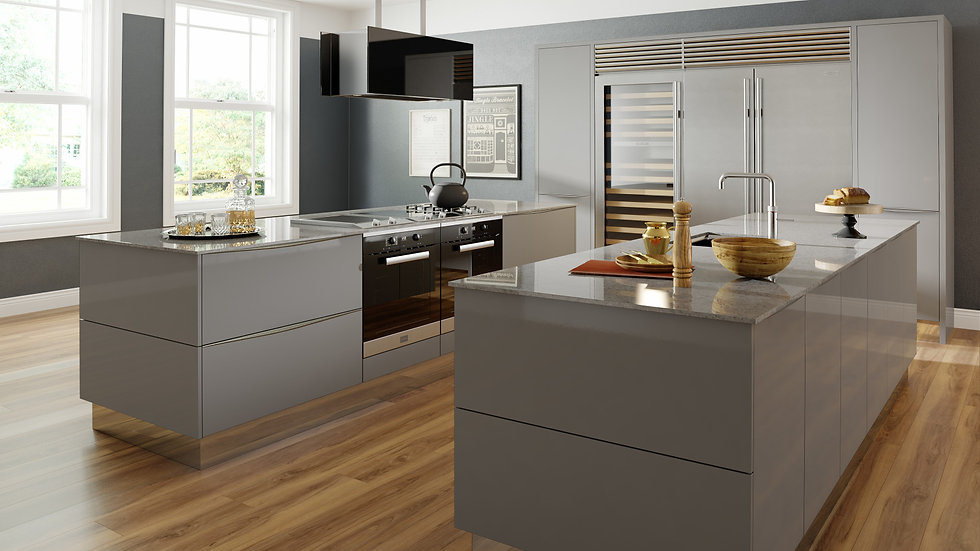 Mackintosh Metrica Gloss Grey Kitchen By Kuche & Bagno