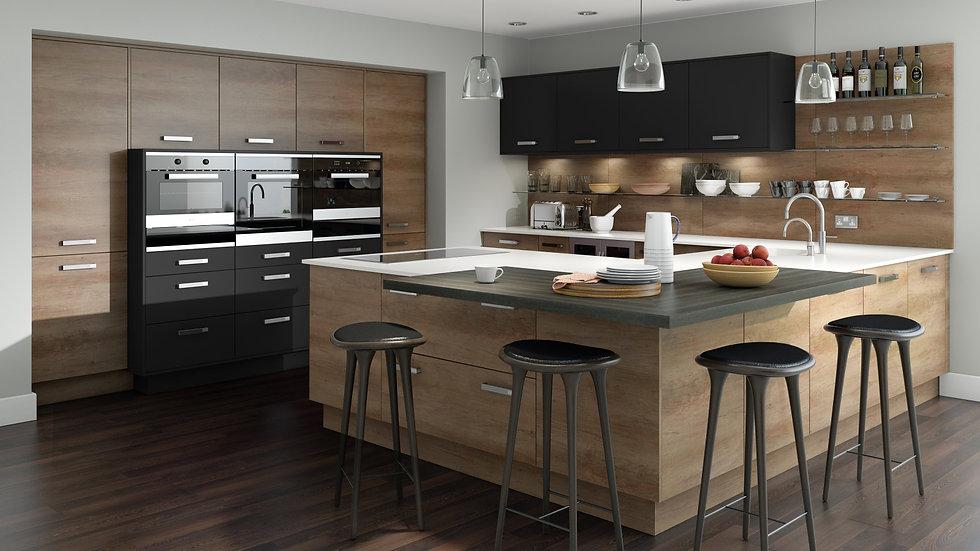 Mackintosh Grey Nebraska Oak Kitchen