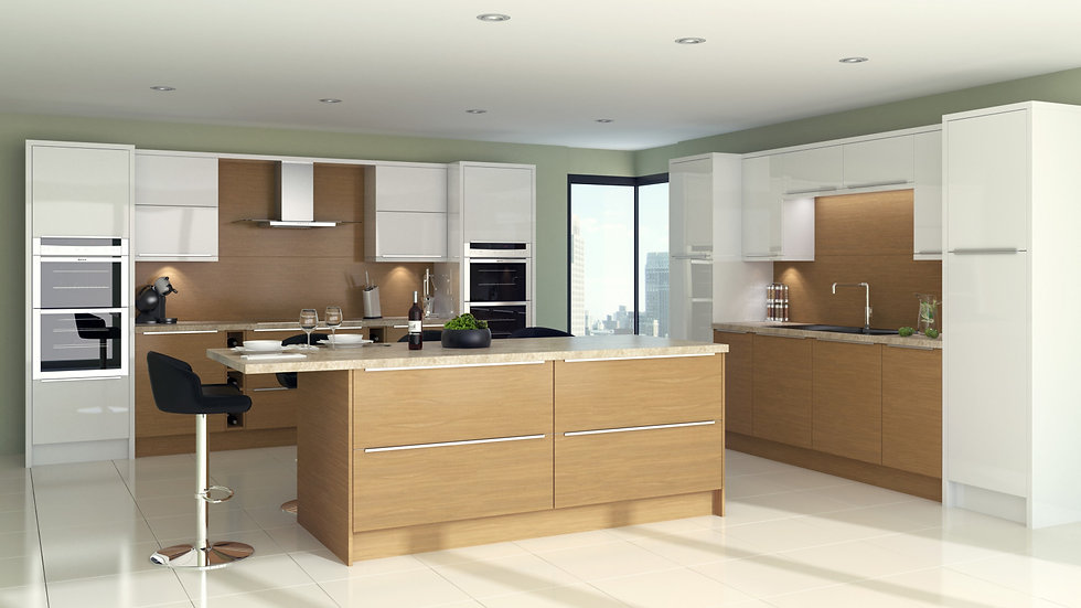 Mackintosh Linear Lissa Oak Kitchen By Kuche & Bagno
