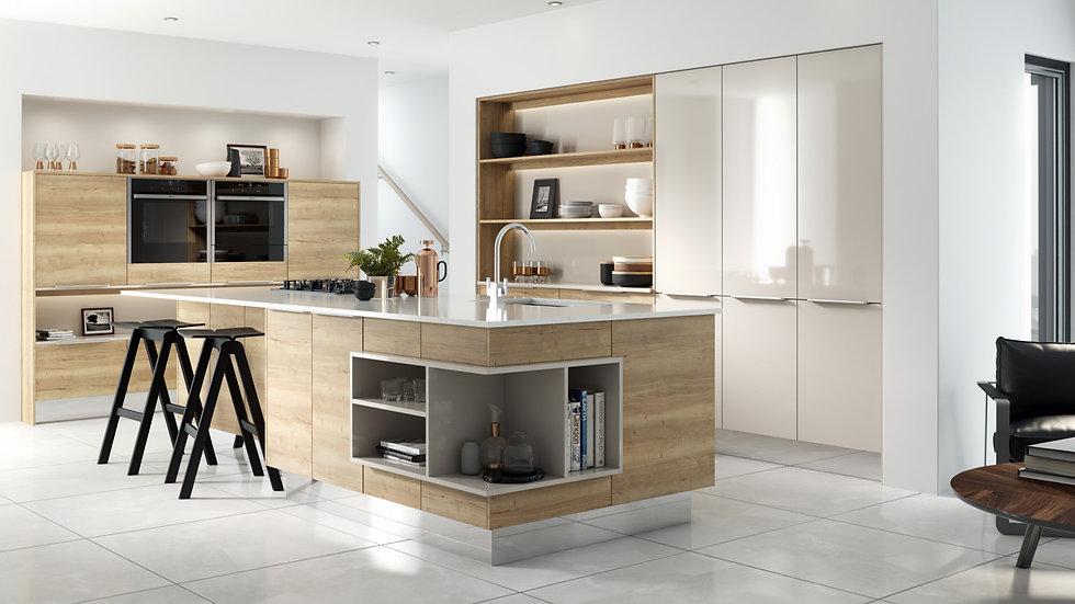 Mackintosh Linear New England Oak Kitchen