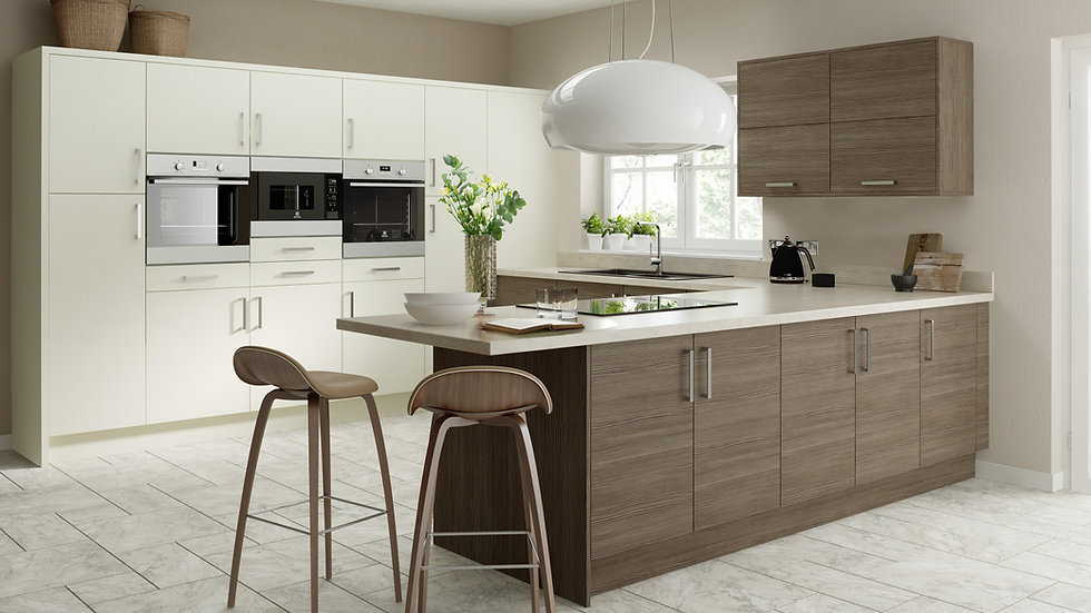 Chippendale Vogue Brown Grey Avola Kitchen By Kuche & Bagno