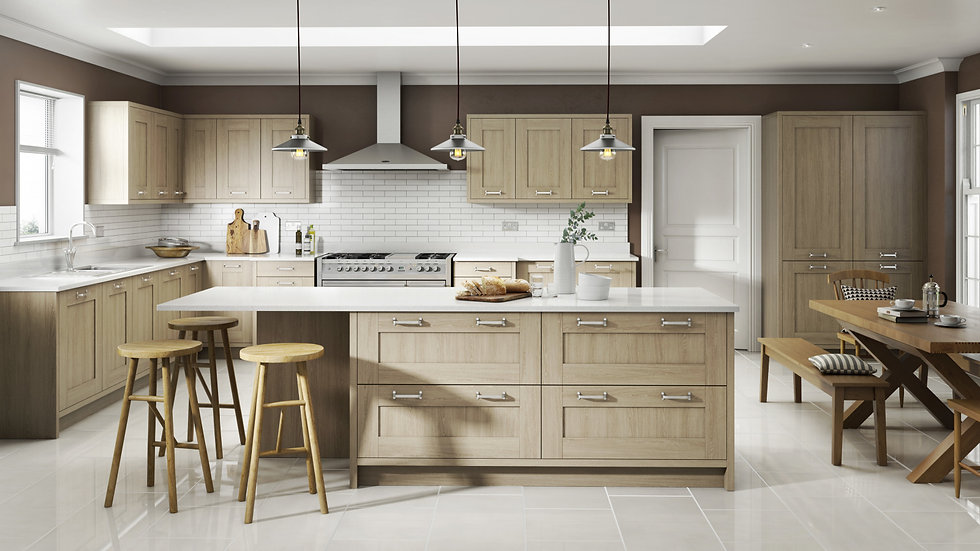 Mackintosh Trend Sand Oak Kitchen By Kuche & Bagno