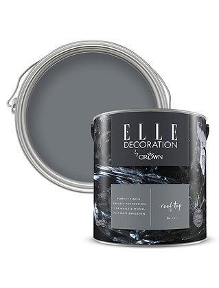 Elle By Crown Flat Matt Paint 'Roof Top' Sample Pot 125ml