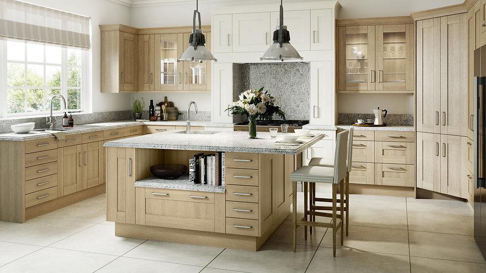 Mackintosh Timber Sand Oak Kitchen By Kuche & Bagno