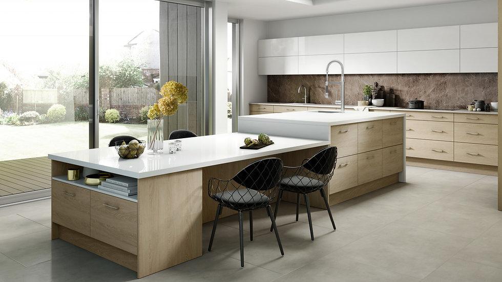 Mackintosh Linear Sand Oak Kitchen
