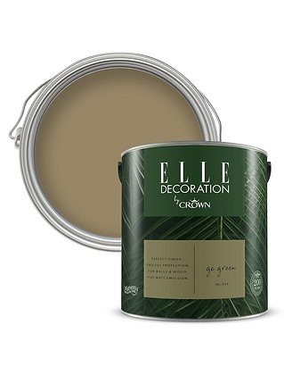 Elle By Crown Flat Matt Paint 'Go Green' Sample Pot 125ml