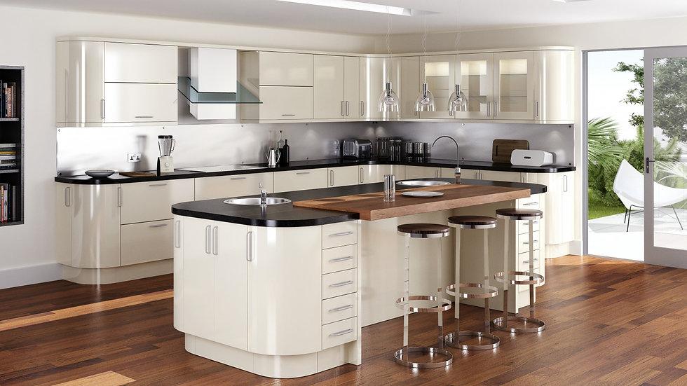Mackintosh Metrica Gloss Stone Kitchen By Kuche & Bagno
