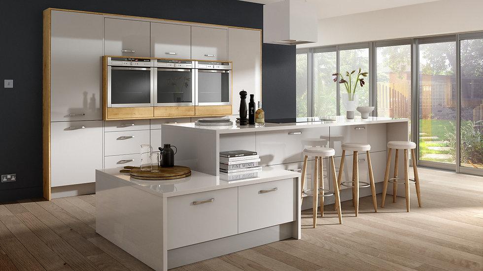 Mackintosh Metrica Gloss Light Grey Kitchen