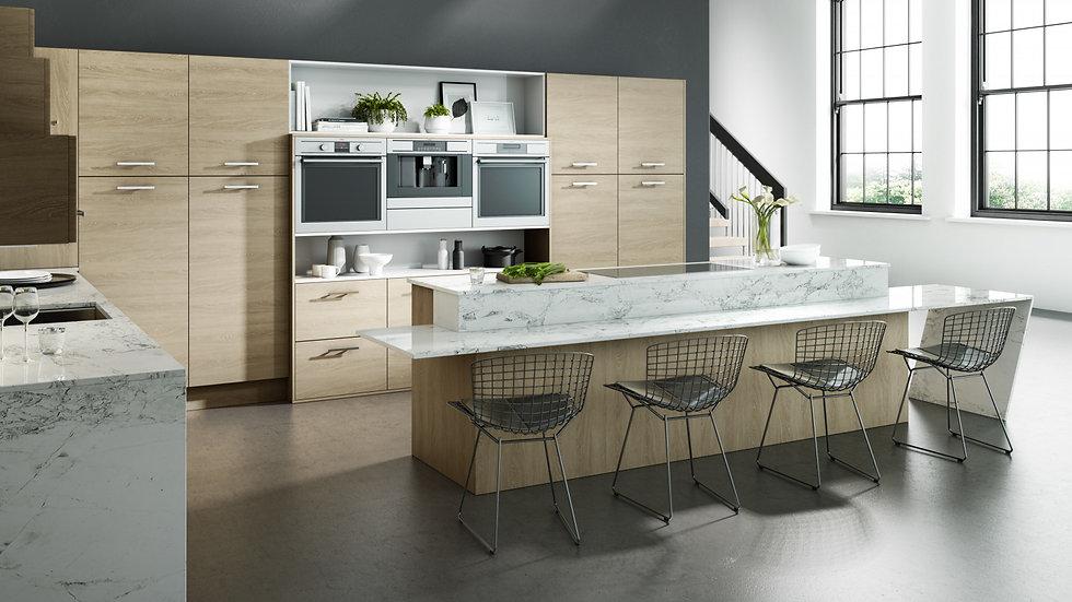 Chippendale Vogue Sand Oak Kitchen By Kuche & Bagno