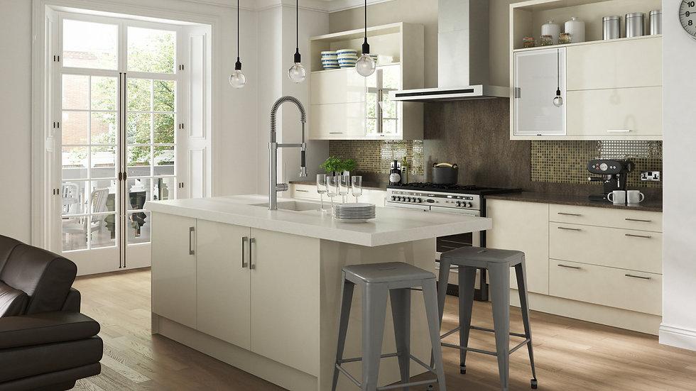Mackintosh Metrica Gloss Ivory Kitchen By Kuche & Bagno