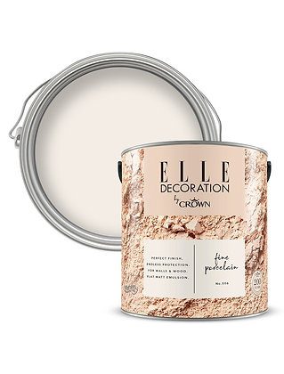Elle By Crown Flat Matt Paint 'Fine Porcelain' 2.5L