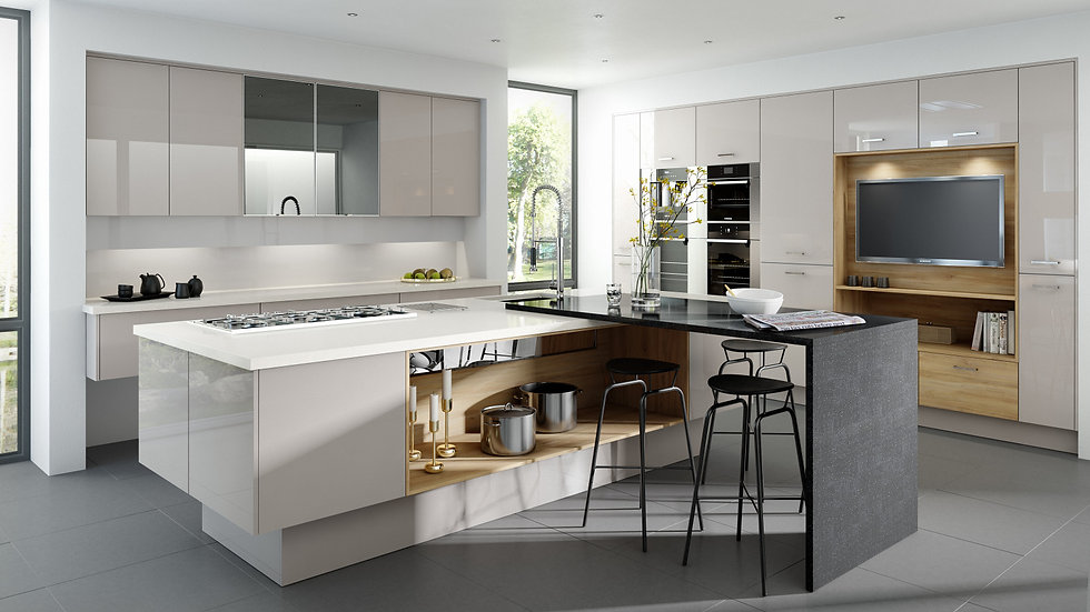 Mackintosh Metrica Gloss Cashmere Kitchen