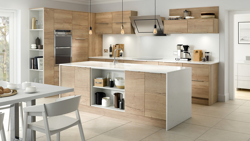 Chippendale Vogue New England Oak Kitchen By Kuche & Bagno