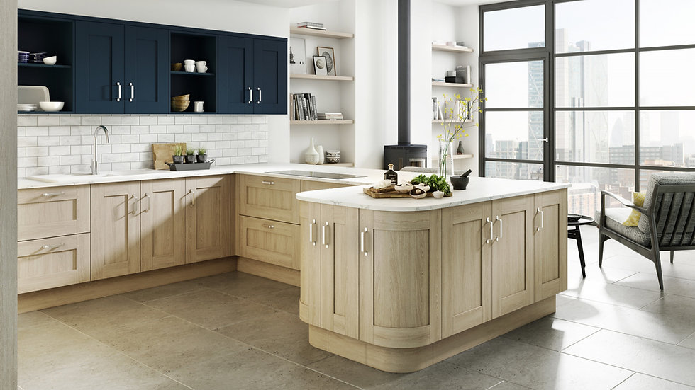 Chippendale Verve Sand Oak Kitchen By Kuche & Bagno