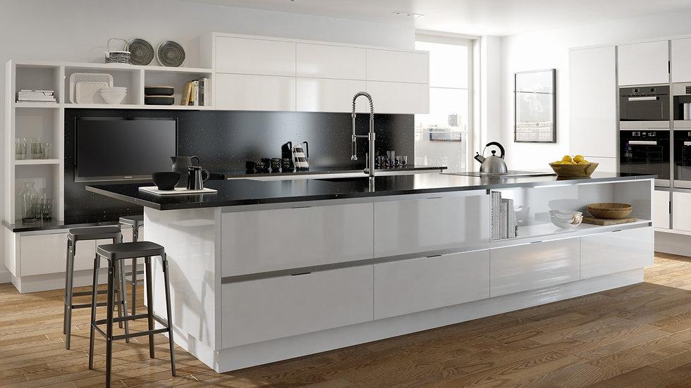 Mackintosh Metrica Gloss White Kitchen By Kuche & Bagno