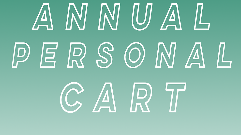 Annual Personal Cart