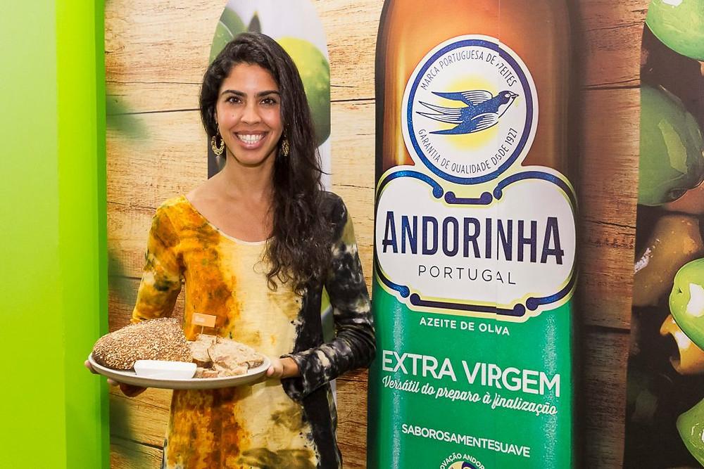 Bela Gil e marca azeite Andorinha