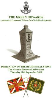 DEDICATION OF THE REGIMENTAL STONE