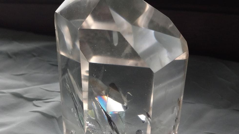 Beautiful clear quartz channelling crystal