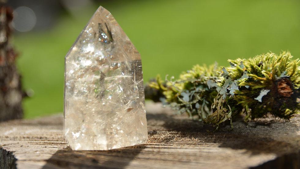 Elestial quartz crystal