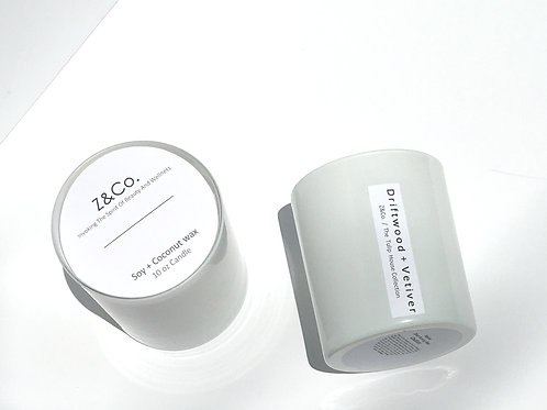 Driftwood + Vetiver Candle The White Tulip House Collection