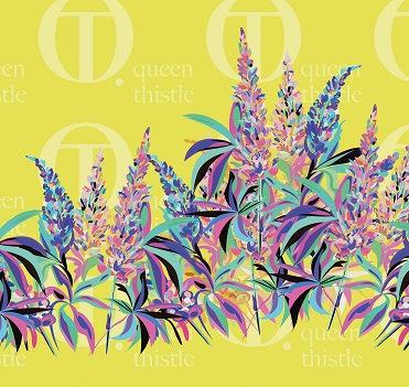 Digital lupine pattern no.70 &  71