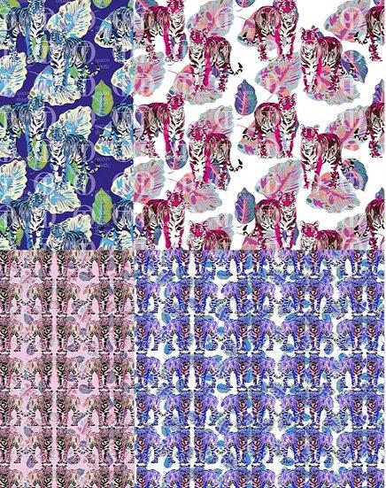 2seamless pattern, 2 versioncolours