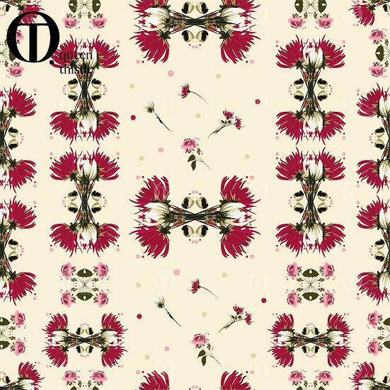 Pink/Rose floral No. 03006_03007_03008_Digital patterns.