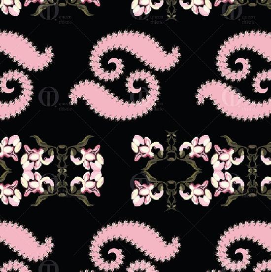 Digital floral paisley, pattern no.0206 &0207