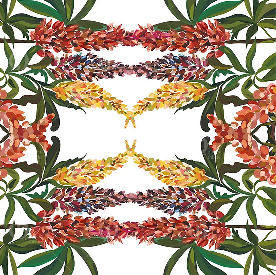 Digital lupine pattern no.62 &  63