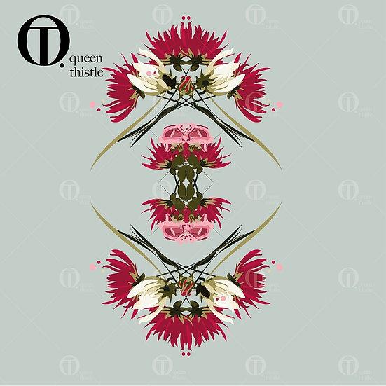 Pink/Rose floral No.  03000_03001_03002_Digital patterns.