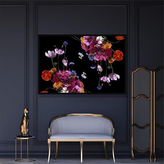 Flowers illustration. Unframed print.