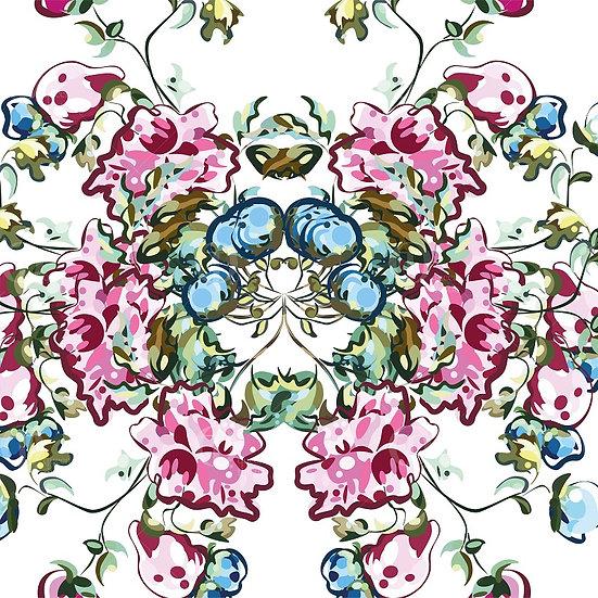 Digital pattern flowers  no.0200 & 0201.