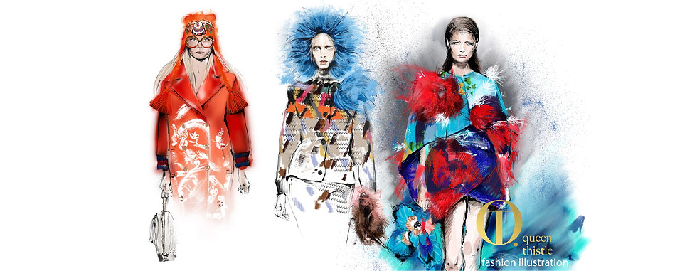 fashion illustration queen thistle custo