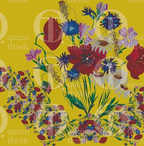 Bouquet of wildflowers  NO.090 & 091 Digital pattern.