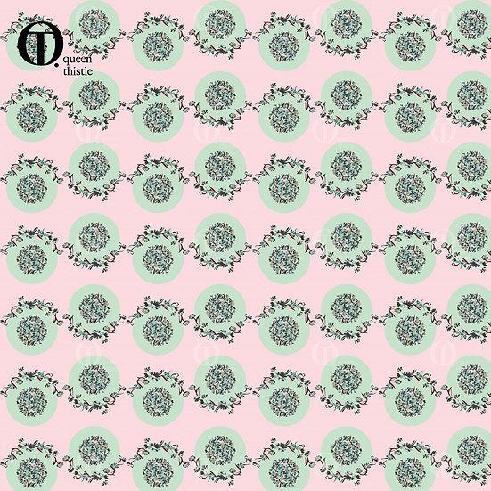 Mint & Pink 05010_05011_05012_05013 Digital patterns.