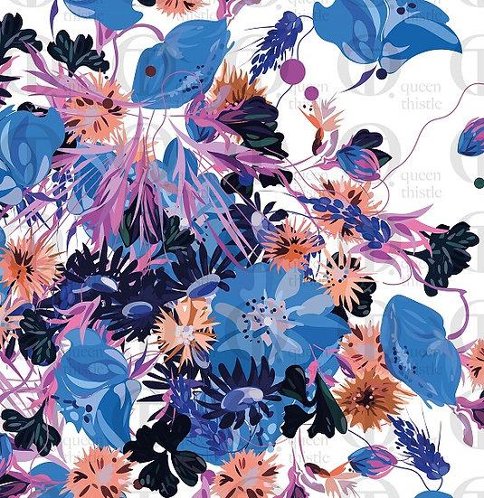 Bouquet of flowers illustration no. 092 & 093 DIGITAL PATTERN.