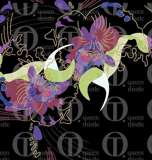 Digital pattern orchid no.115 & 116