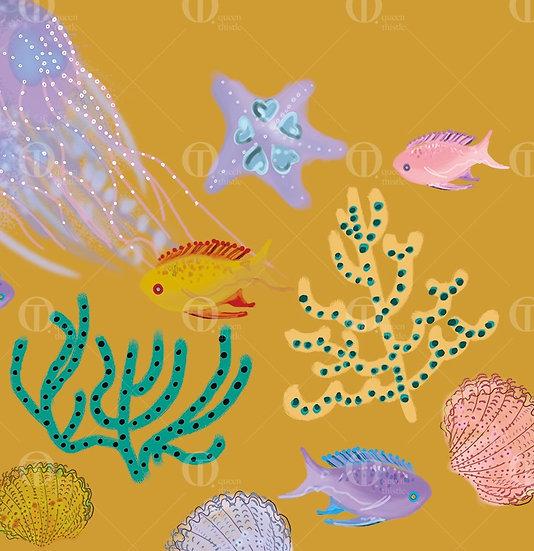 Sea surface pattern design,  Digital Pattern no.01106_01107_01108