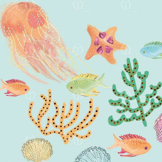 Sea surface pattern design,  Digital Pattern no.01101__01102__01103