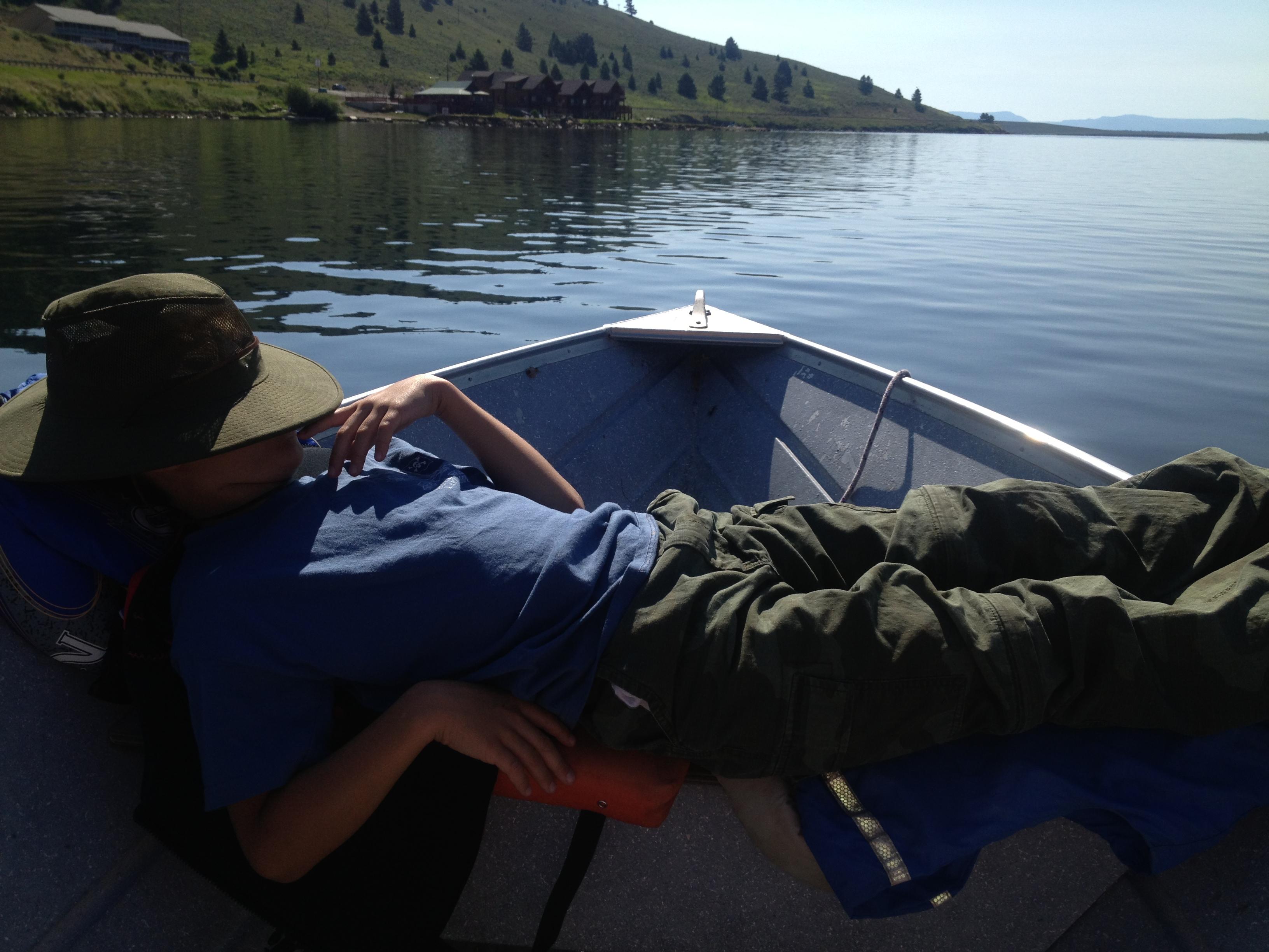 Fishing Montana Lake